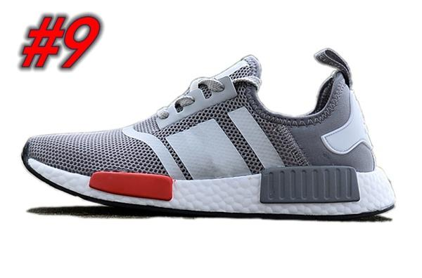 4d34ef31d 2018 Wholesale Discount Cheap pink red gray NMD Runner R1 Primeknit PK Low  Men and Womens