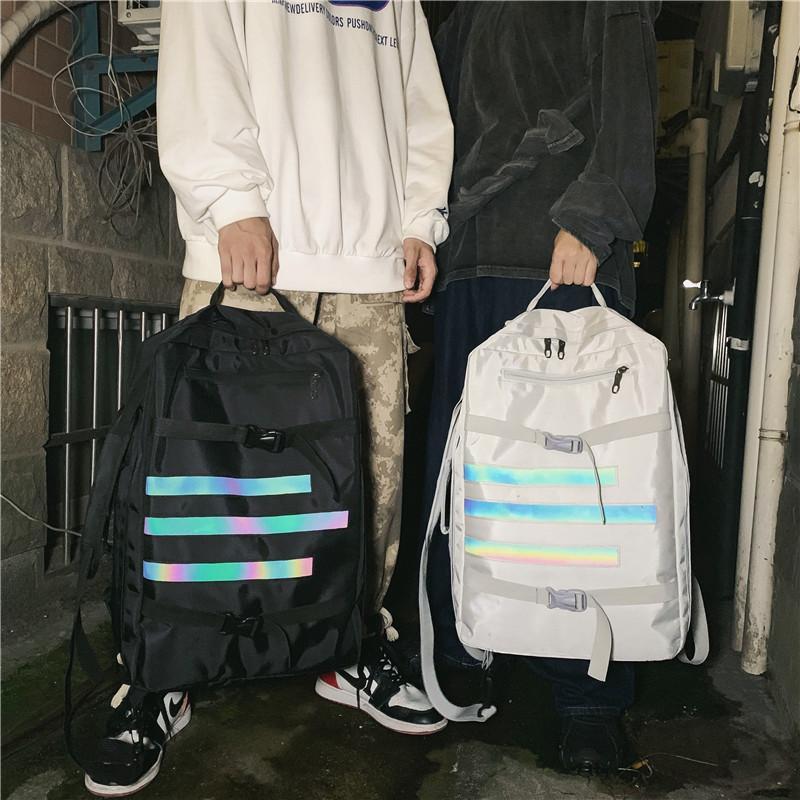 oxford sacs à dos occasionnels de sacs d'école de street style planche à roulettes pack de sport bande réfléchissante en plein air sacs de voyage