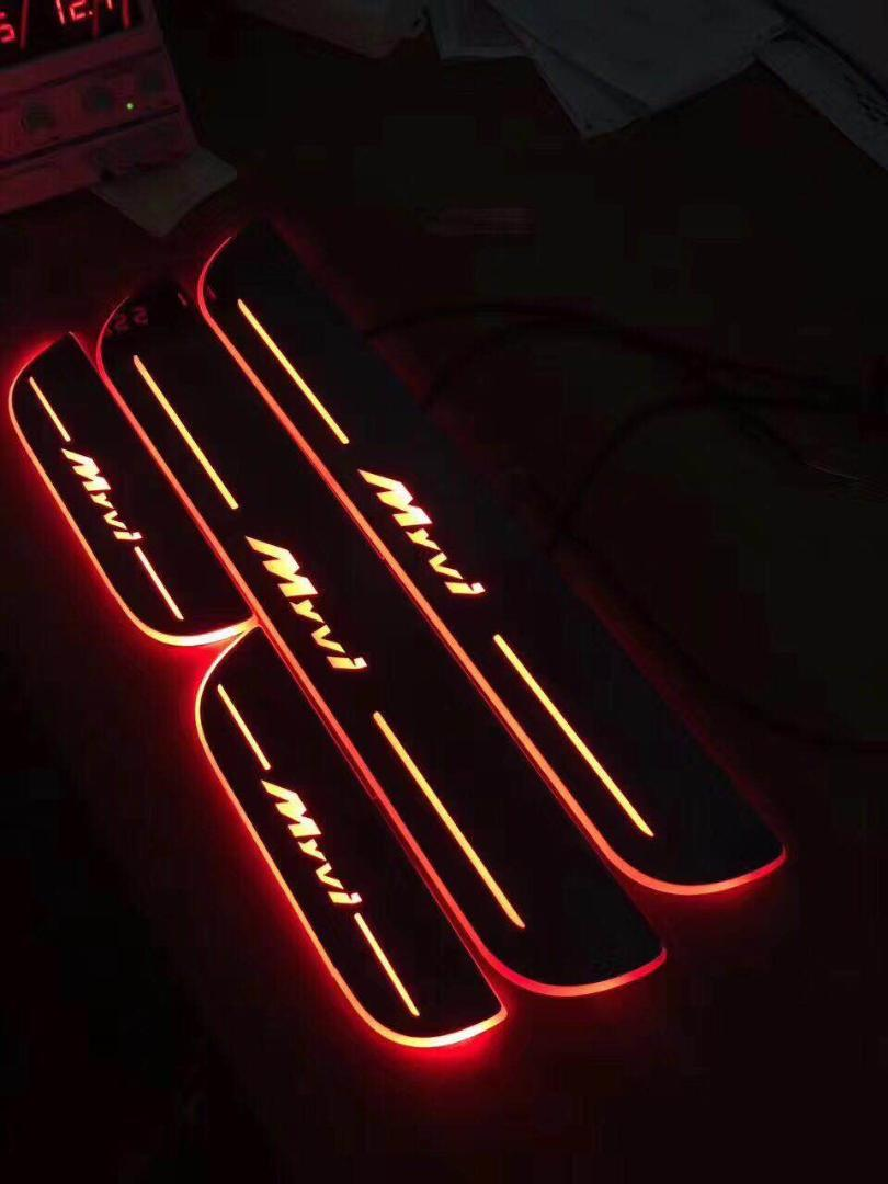 eOsuns LED가 Myvi daynamic 문 문턱 환영 페달 몰딩 빛 히면 페달을 이동