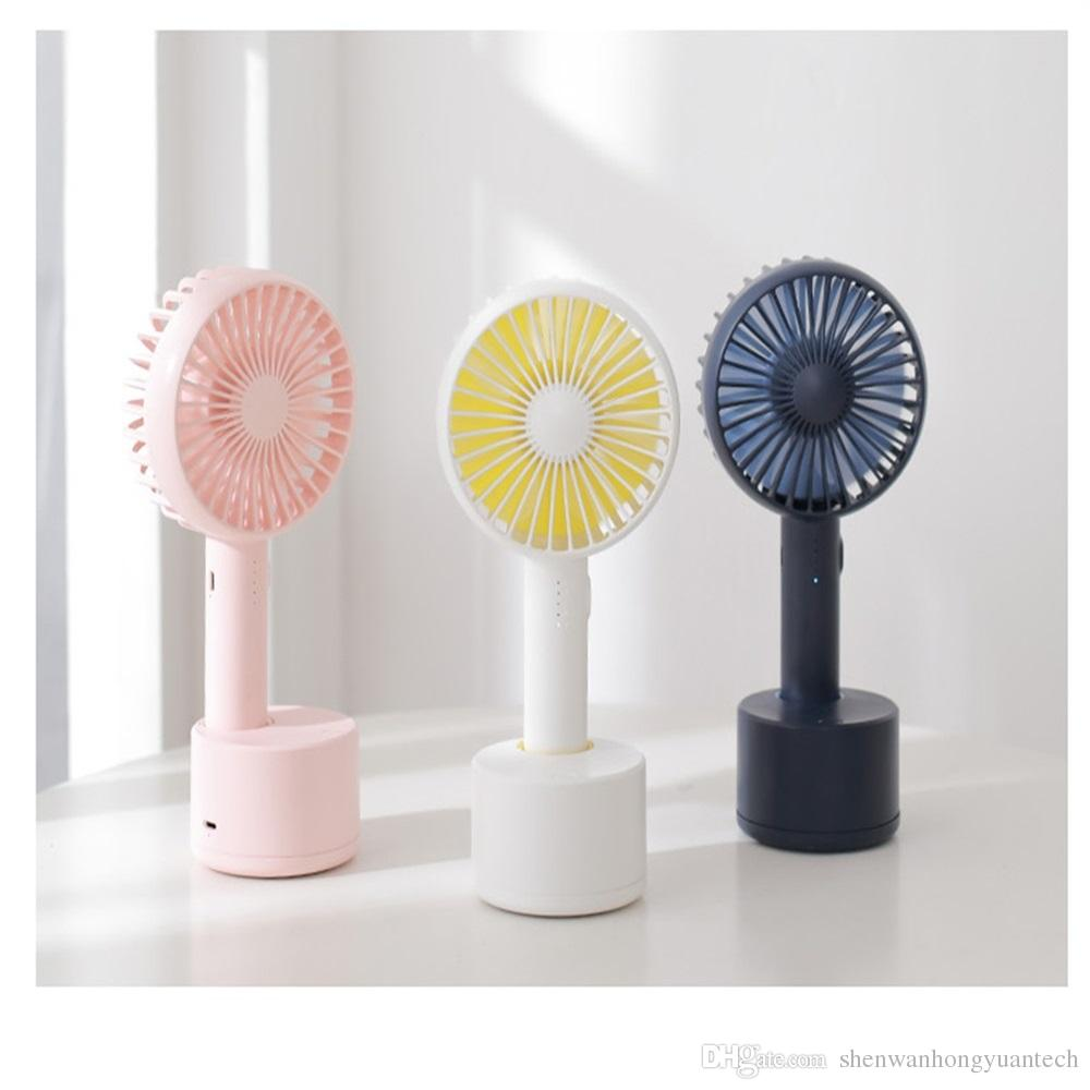Handheld Electric USB Mini Portable Outdoor Fan with Rechargeable 1800 mAh Foldable Handle Desktop for Home and Travel