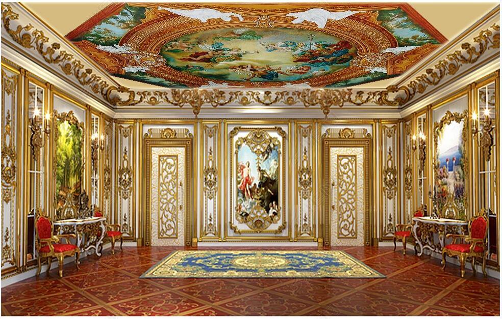 techo 3d fondo de pantalla mural de encargo de la foto de la bendición de Dios los cielos polígono cenit mural de papel pintado para paredes tramo 3 d