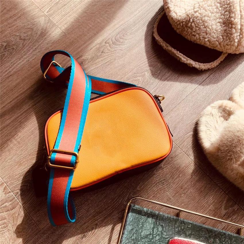Tasarımcı lüks omuz çantası moda yüksek qualitu deri Kamera çantası / CFY2002101