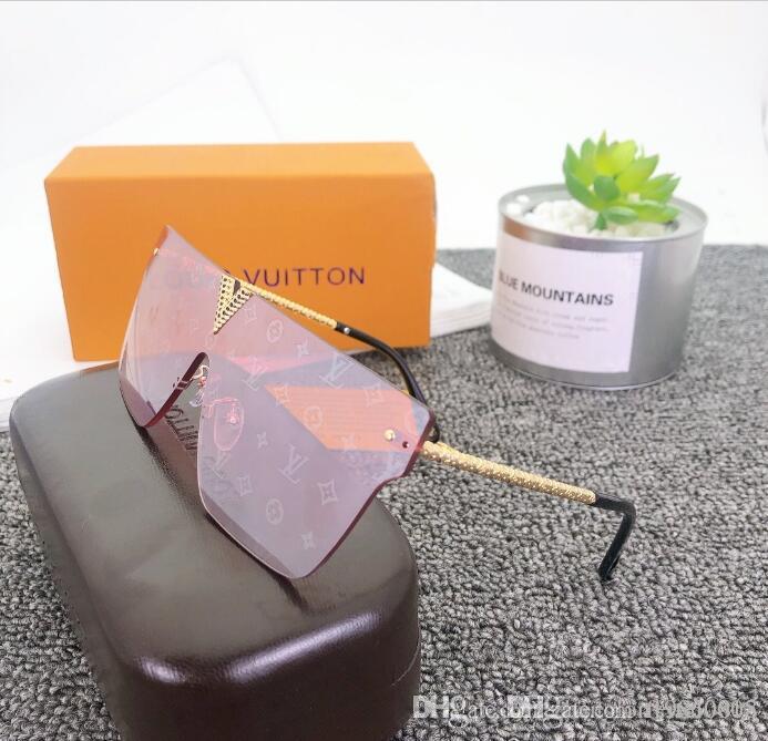 2020 Luxus-Modedesigner Large Metal Sonnenbrillen für Männer Frauen Glaslinsen UV-Schutz Sonnenbrillen H3