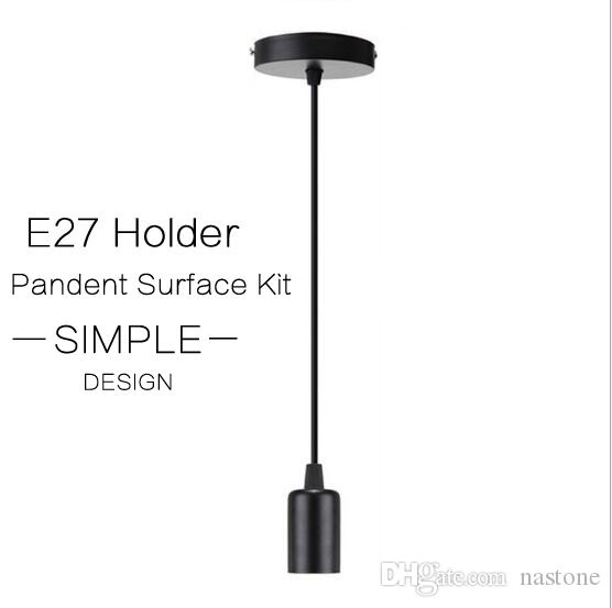 E27 Ciondolo design semplice con supporto della lampada accessori di montaggio Kit Set per E27 / E26 a vite lampadina