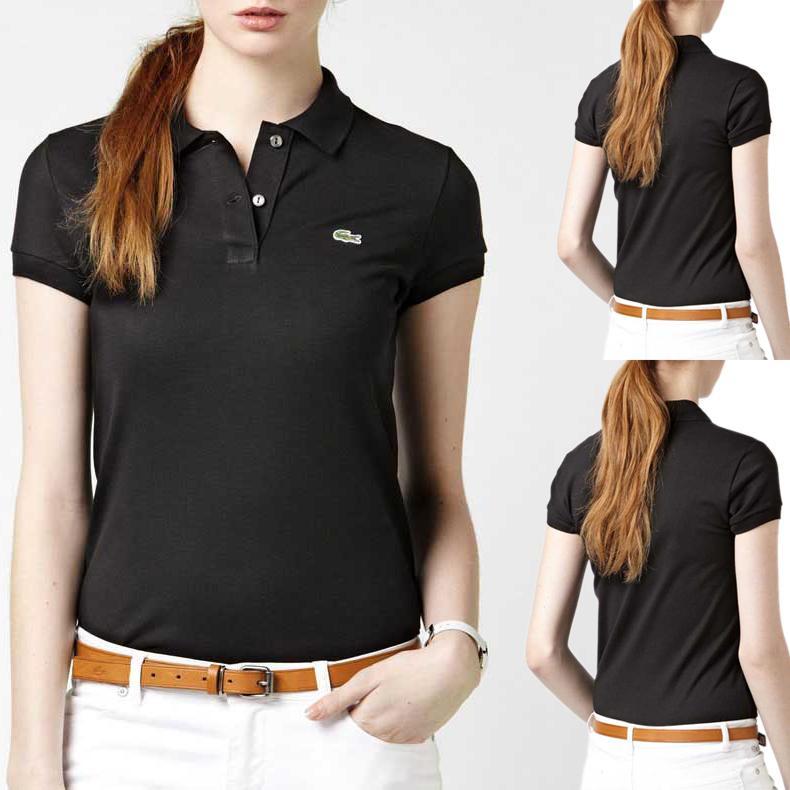 T-shirts d'été pour les femmes Lapel Polo à manches courtes avec logo couleur solide Polo T-shirts 16 femmes Couleur Stylistes Ropa De Mujer