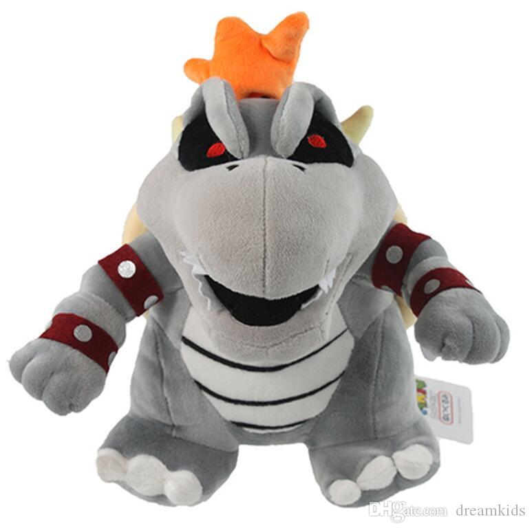 """Super Mario Bros brinquedos de pelúcia 10"""" Koopa Bowser bebê dragão de pelúcia boneca Irmãos Bowser brinquedo de pelúcia macia"""