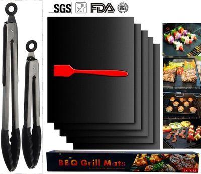 BBQ 그릴 매트 없음 스틱 33 * 40cm 야외 패드 시트 도구 바베큐 커버 도구 높은 온도 저항 요리