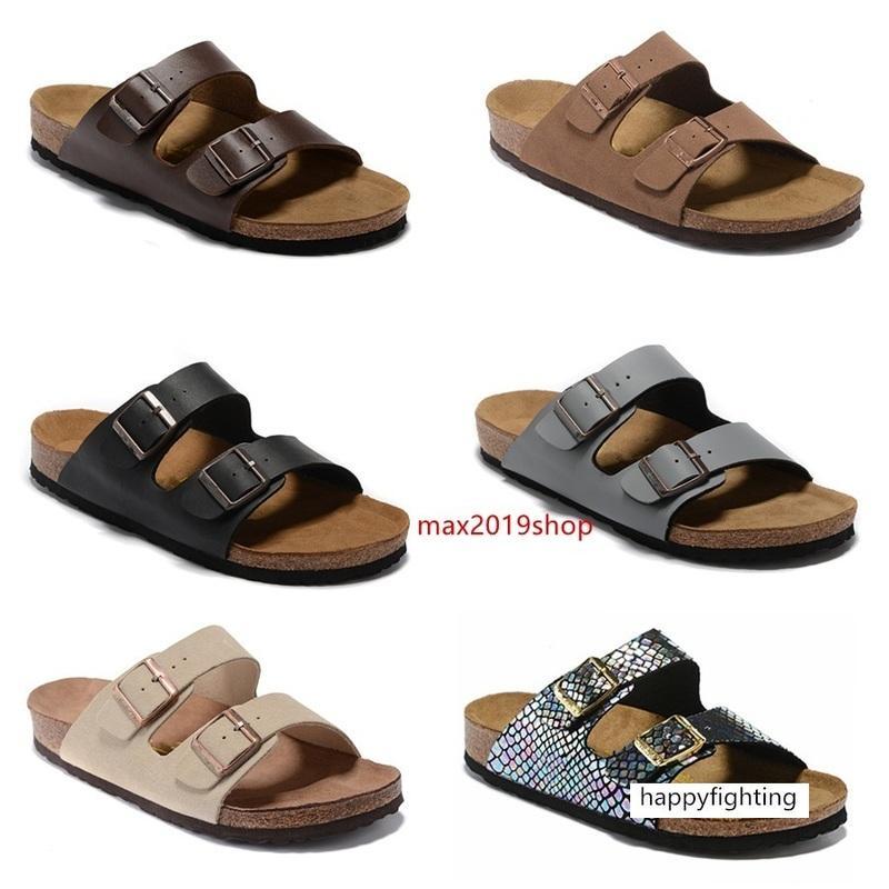 Designer estate strada Arizona Mayari Giza Uomini appartamenti delle donne di rosa pantofole dei sandali di sughero Sandy beah scarpe casual taglia 34-45
