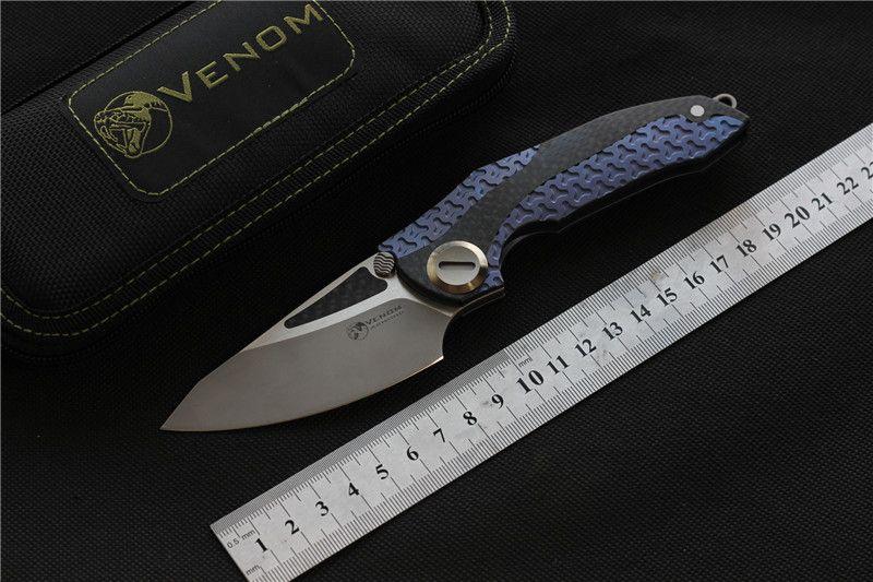 VENOM Zırh katlanır bıçak M390 blade titanyum açık kamp avcılık survival cep mutfak meyve bıçağı EDC aracı bıçaklar