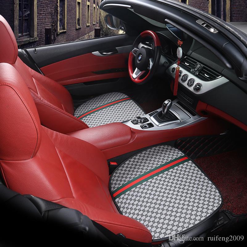 Сиденье 3PC Four Seasons Универсальная автомобильная крышка салона Передние Задние подушки формы дышащий Protector Мат Pad автомобилей Аксессуары для автомобилей