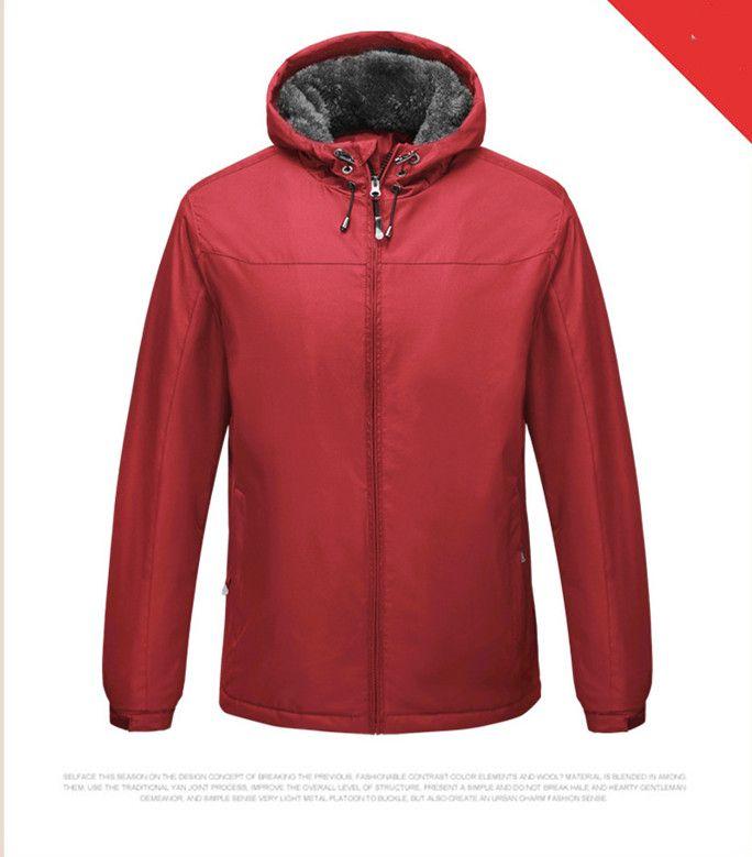 Зима Mens пальто конструктора руно Тонкий куртки вскользь Толстая молния Длинные рукава Верхняя одежда