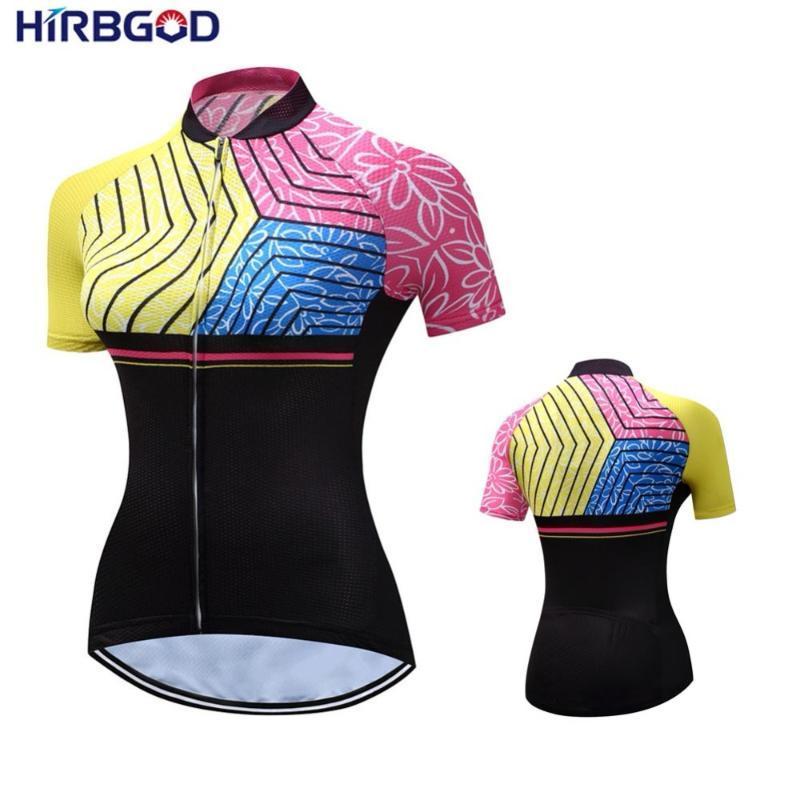 HIRBGOD été à manches courtes femmes Maillot cyclisme Femme Vélo Vêtements 2019 Ropa Ciclismo Plus Size Wear vélo, STYZ031-01