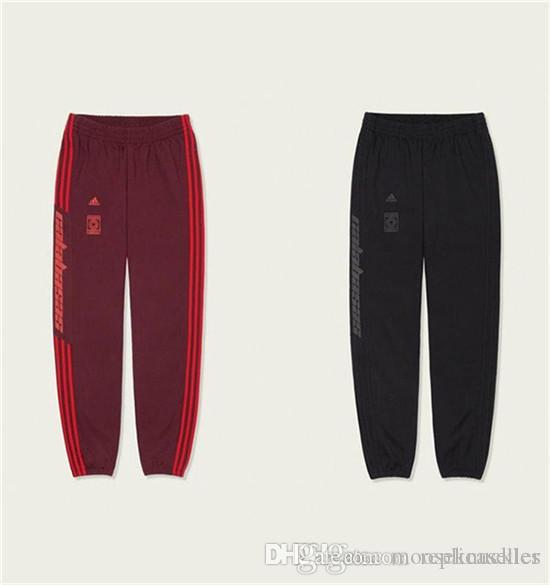 18ss Kanye West Yeezus season 5 Calabasas elastic waist track Pants Trousers Men Women CV7905 sport Jogger Sweatpants Outdoor Pants