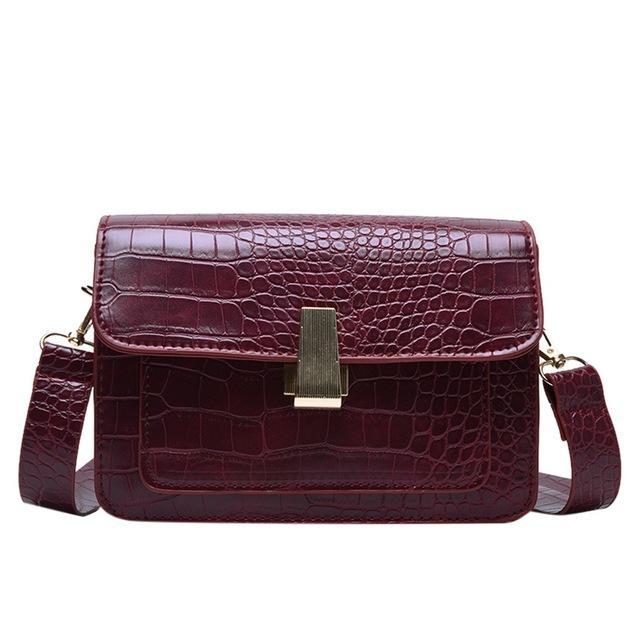 Casual Retro Frauen-Schulter-Beutel-Chic-Bügel Weibliche Handtaschen Luxus PU-Leder-Umhängetasche Messenger Bag Large Purse