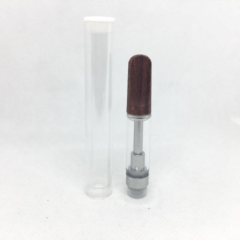 Ceramic Coil Vape Cartridges 1ml 510 Thread Disposable Vape Tank for thick Oil atomizer dab carts pen vaporizer with Flat Wood Tips