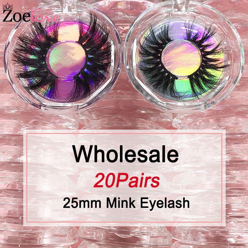 5 mm mink cils en gros en gros 20 paires de maquillage de maquillage zoelove faux cas de cils dramatiques emballages de cils 3D cils de vison