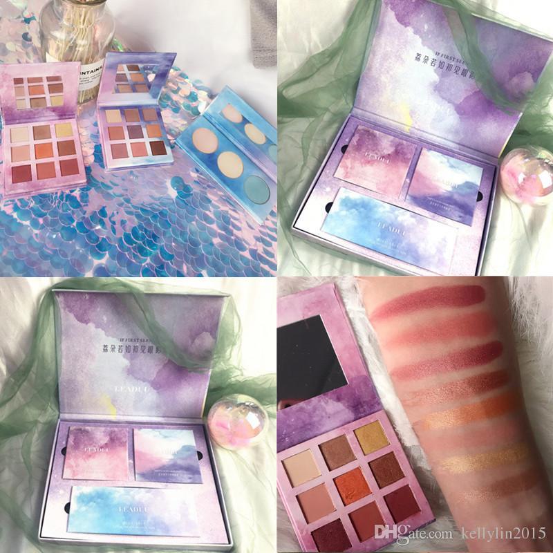 Highlighter Eyeshadow Palette Makeup Set 3 in 1 Big Gift Box Women Shimmer Matte Eye shadow Eyebrow Powder Cosmetic Make Up Kit