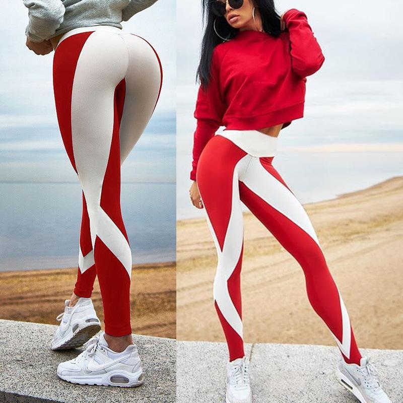 2020 grenzüberschreitenden heißen Großhandelsschwarzweiss-Digitaldruck Sport-Fitness-Hosen Frauengamaschen