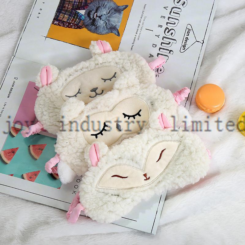 Belle et confortable contour de masque pour les yeux de sommeil masque pour les yeux de lapin en peluche et super confortable oeil doux maskvery confortable
