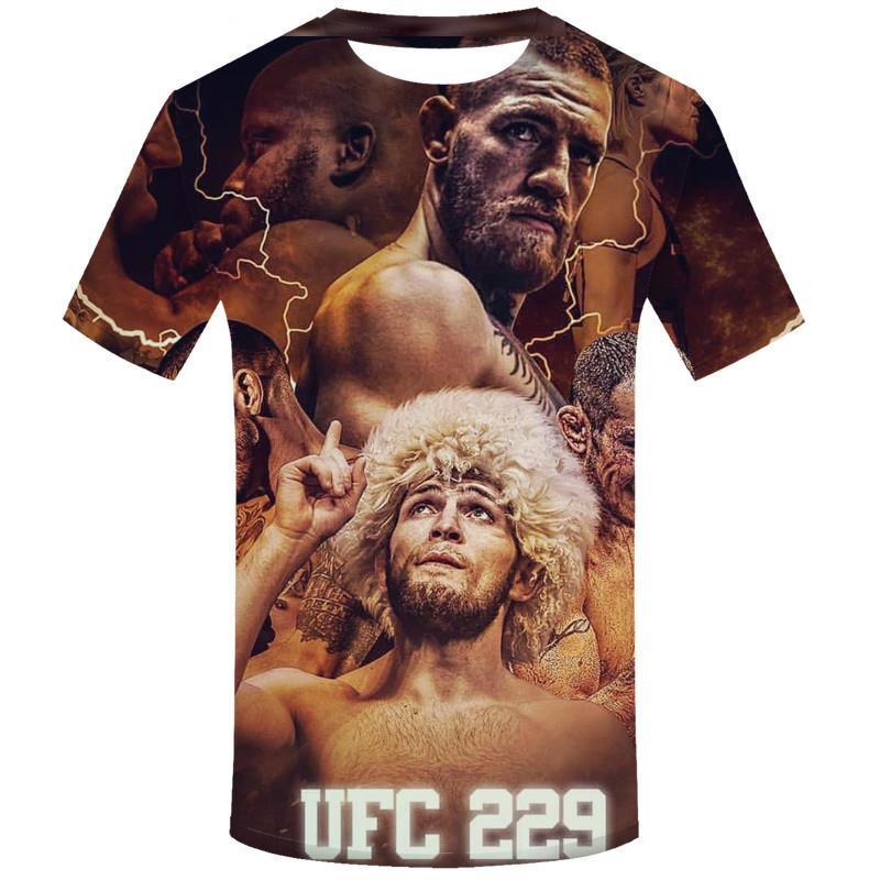 Neueste Mode Coole Stern Khabib Nurmagomedov T-Shirt 3D Gedruckt Frauen / Männer Sommer Kurzarm Unisex T-Shirt Lässige Tops 3D T-Shirt K634