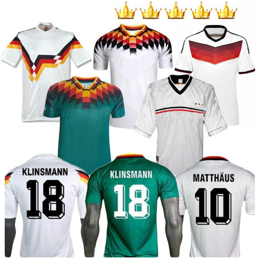 1990 1994 1998 1998 Version rétro Vintage Rmany Classic Soccer Jersey Klinsmann Matthias Home Shirt Kalkbrenner Jerseys Shirts de football
