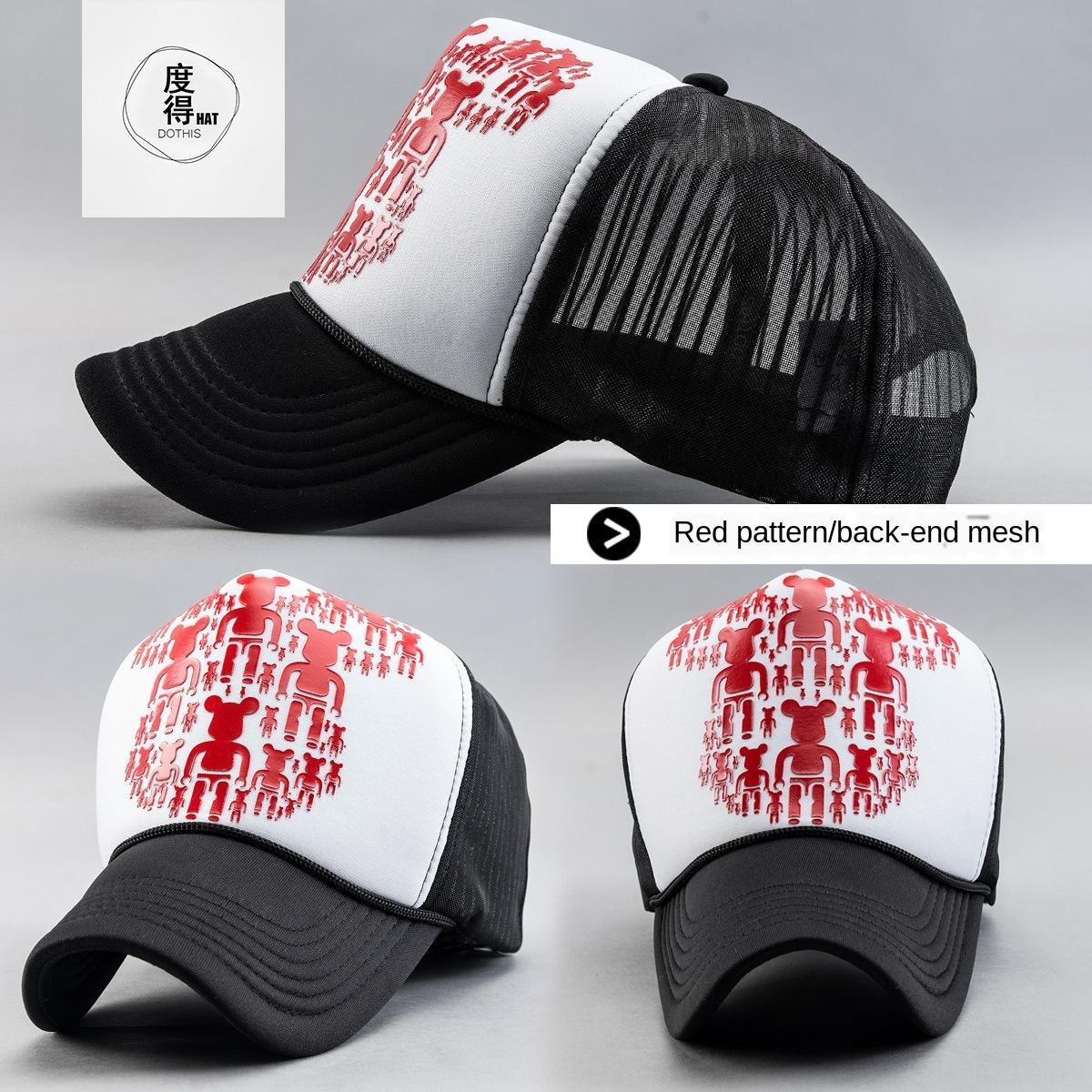 moda unissex tampão do camionista de altura coroa malha visor de beisebol boné de beisebol chapéu de sol chapéu de sol
