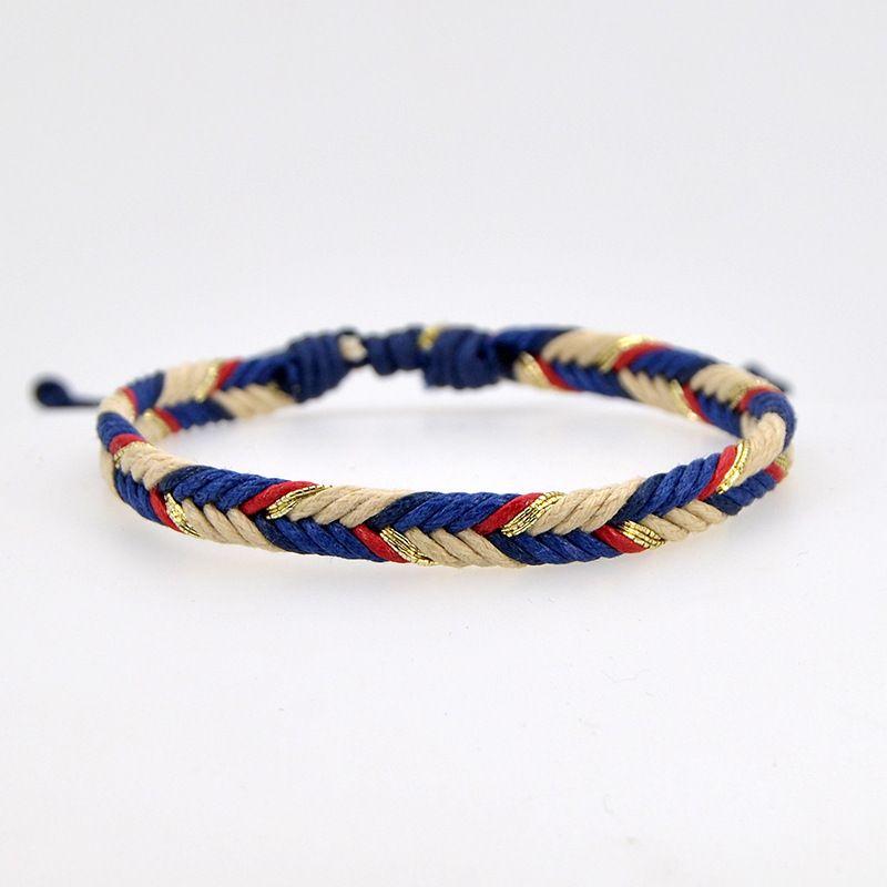 Regalo 2019 di Lucky etnici braccialetto Handmade delle donne Uomini Discussione del braccialetto della corda della corda del tessuto dei monili del braccialetto Lover