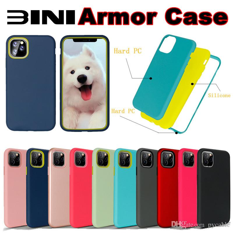 Armure Phone pour iPhone 11 Pro Max 6 7 8 Plus XS MAX XR Samsung Note 10 Pro A10S M30S A2 CORE 3 en 1 antichocs hybride TPU PC Retour couverture