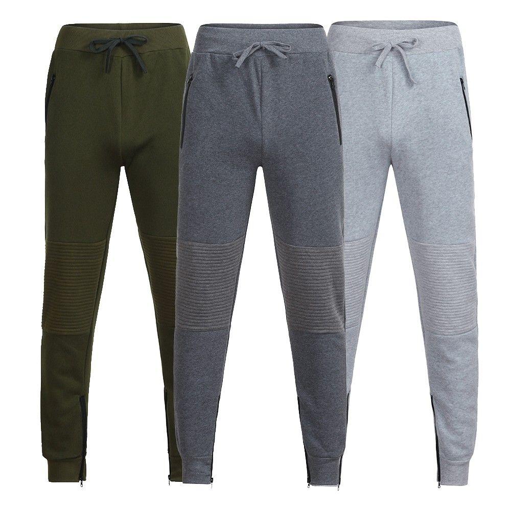 Mens Autumn Winter Joggers Patchwork Zipper Drawstring Sweatpants Trouser Pants Baggy Harem Cargo Pants Jogger Dancing PantZ313