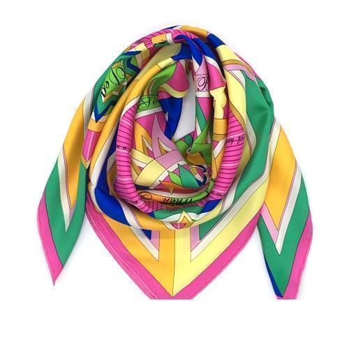 Nagelneue gute qualtiy 100% Schal Seide Material la Rose dea drucken vents Quadratschal für Frauen Größe 90c