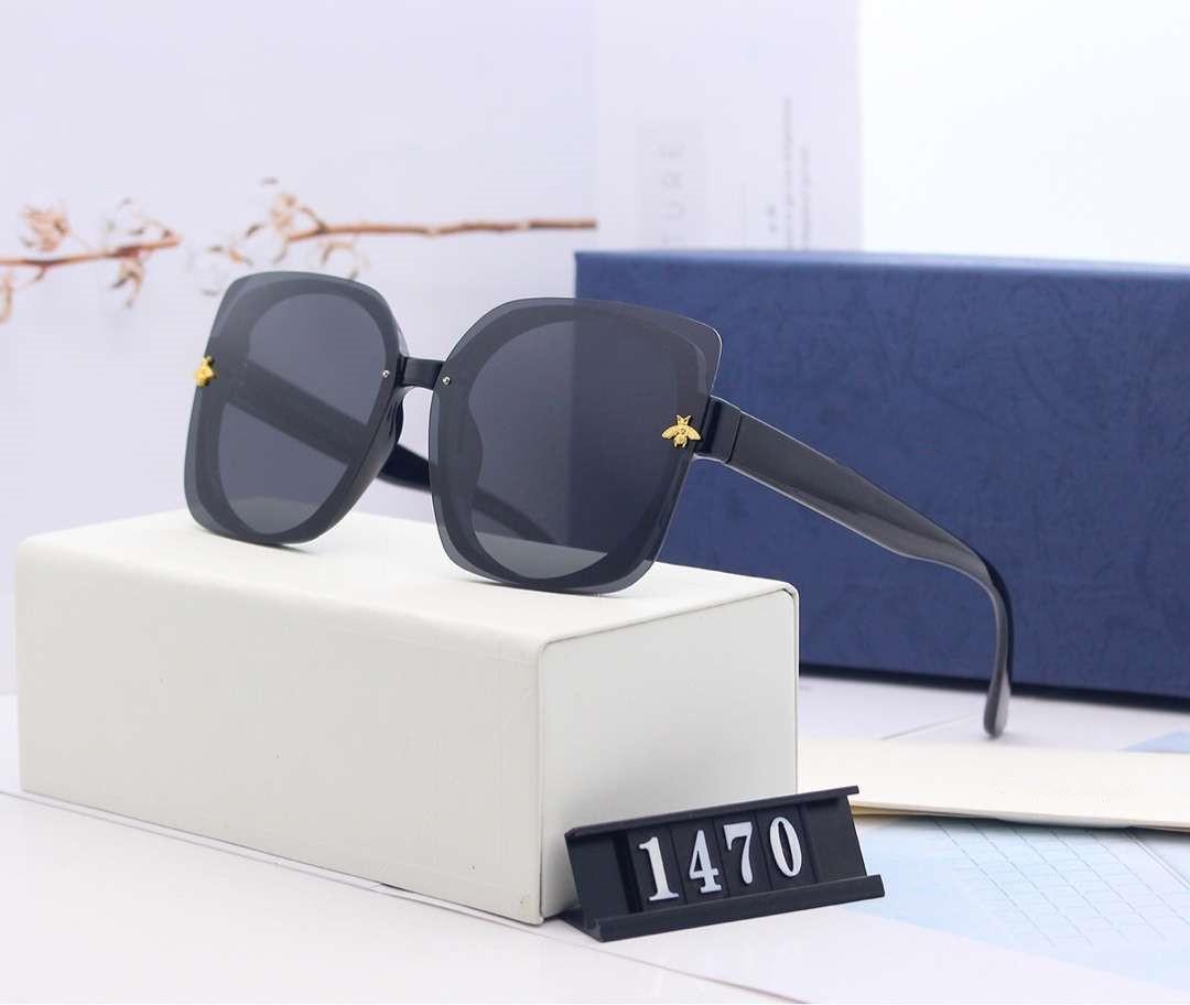 الصيف العلامة التجارية مصمم النظارات الشمسية للالنحل رجل إمرأة نظارات شمس شاطئ نظارات UV400 1470 5 الألوان الخيار جودة عالية مع صندوق