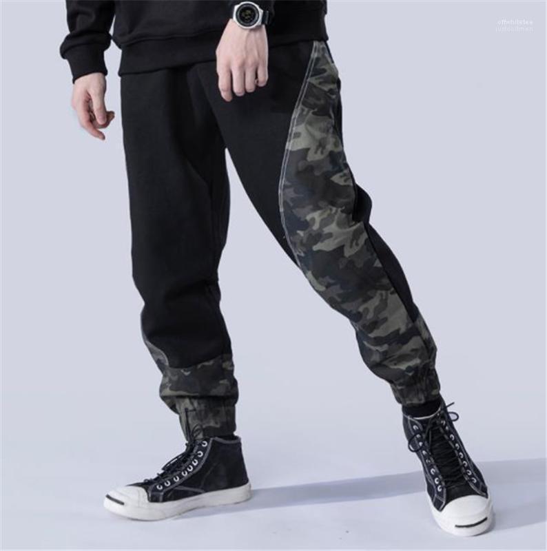 Suelta con cordón Bolsillos con paneles de pantalones casuales para hombre del camuflaje con paneles para hombre Los hombres Ropa pantalones diseñador de moda