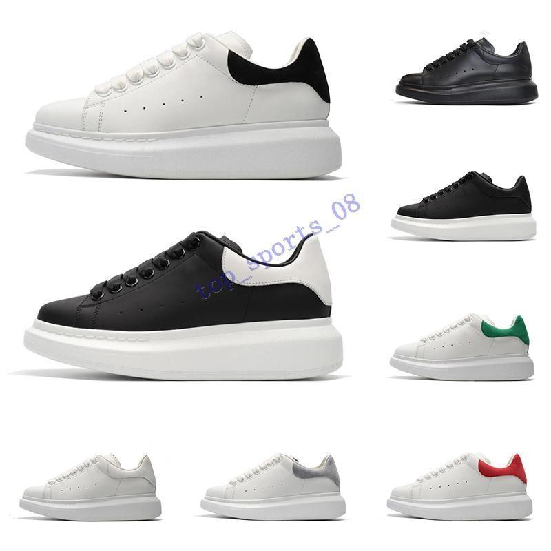 جديد مصمم أحذية للرجال النساء أزياء منصة أحذية رياضية ثلاثية أسود أبيض أحمر رمادي جلد من جلد الغزال رجالي مريح شقة حذاء