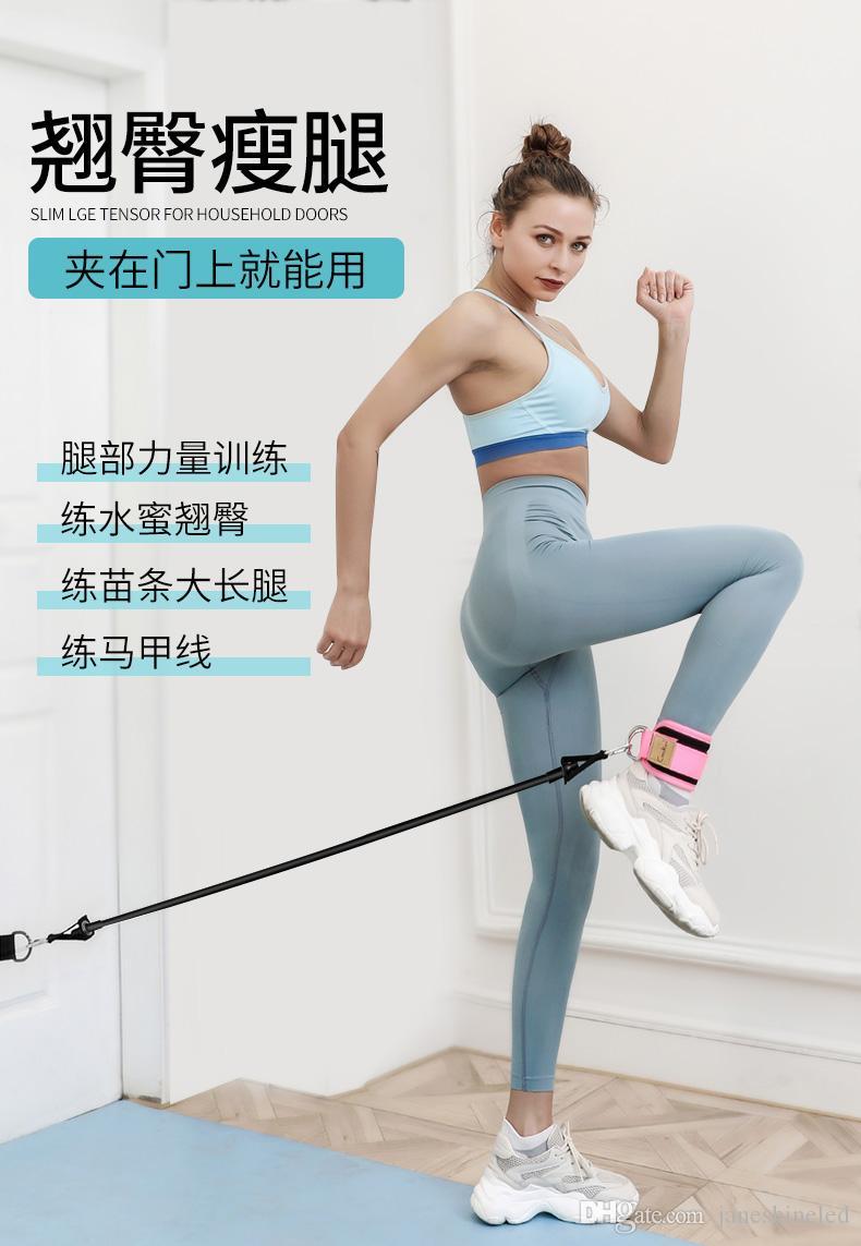 Leg Praxis Hüfte Fitness Trainingsgeräte Knöchel Zugseil Zugband an der Tür dünnen Bein Abzieher