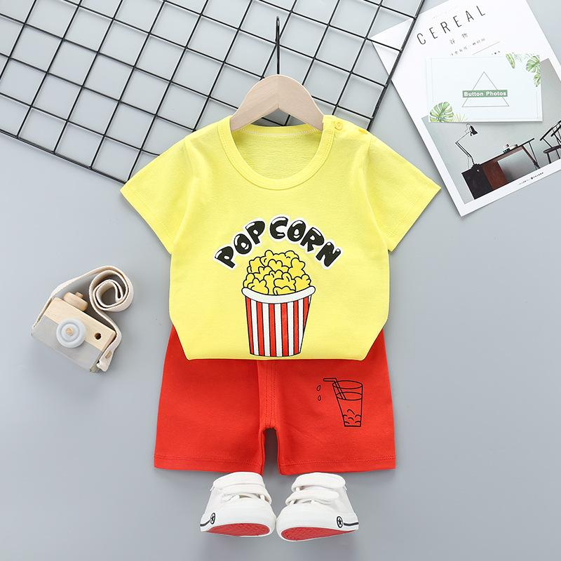 아이들 옷 소녀 소년 반바지 도매면 100 % 여름 아동 티셔츠 팬티 무료 저렴한 DHL 세트 꼭대기