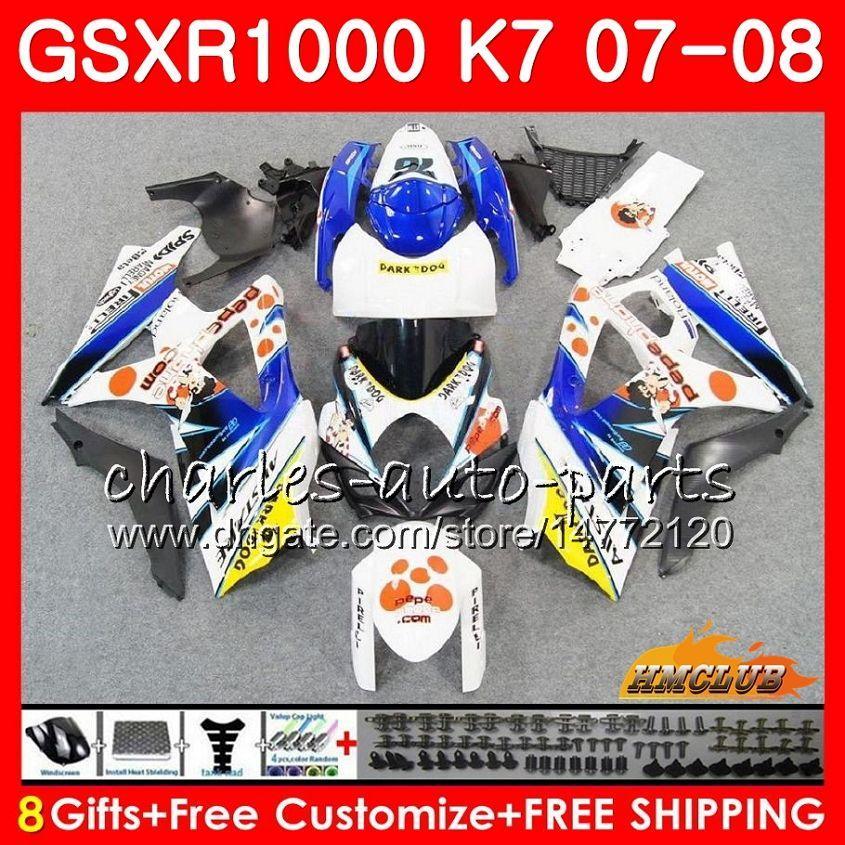 신체 Suzuki Pephephone Stock GSXR-1000 GSX-R1000 GSXR1000 07 08 Bodywork 12HC.40 GSX R1000 07 08 K7 GSXR 1000 2008 2008 완전 페어링 키트
