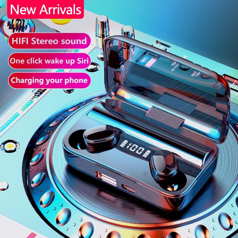سماعات V5.0 التحكم باللمس ستيريو سماعات الأذن TWS A9 اللاسلكية بلوتوث لاسلكية سماعة لالهاتف الذكي مع الشحن مربع