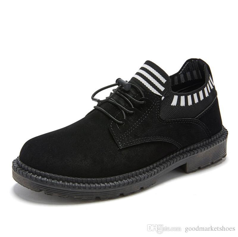 الرخيصة 2019 الخريف والشتاء الجديدة مارتن الأحذية الأحذية الرجال القطن زائد المخملية الأحذية الدافئة برشام الرجال