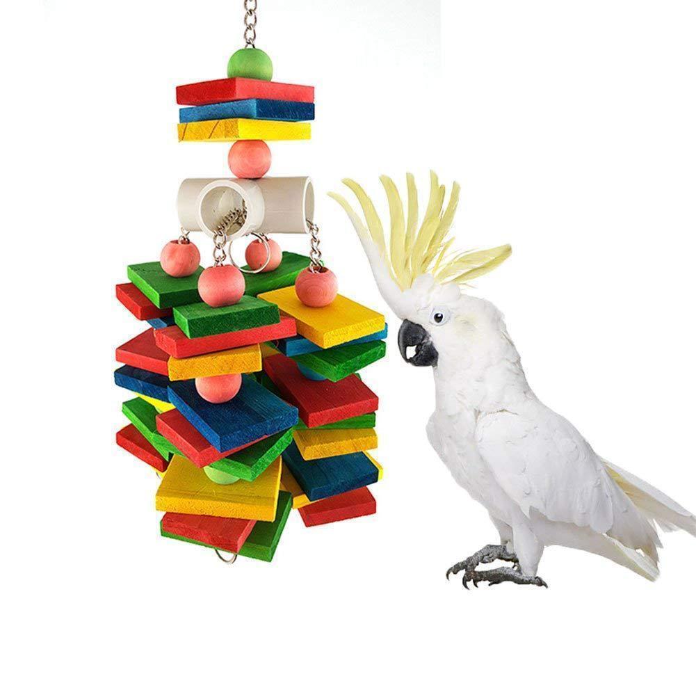 Woodiness Bird Parrot Цвет Деревянные игрушки грызть Amazon