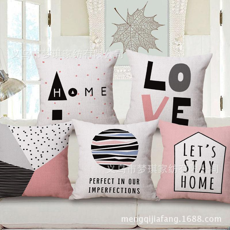 Modern Concise Hold Cotton Pillow Case England Design Sofa Cushion Automobile Waist By Can
