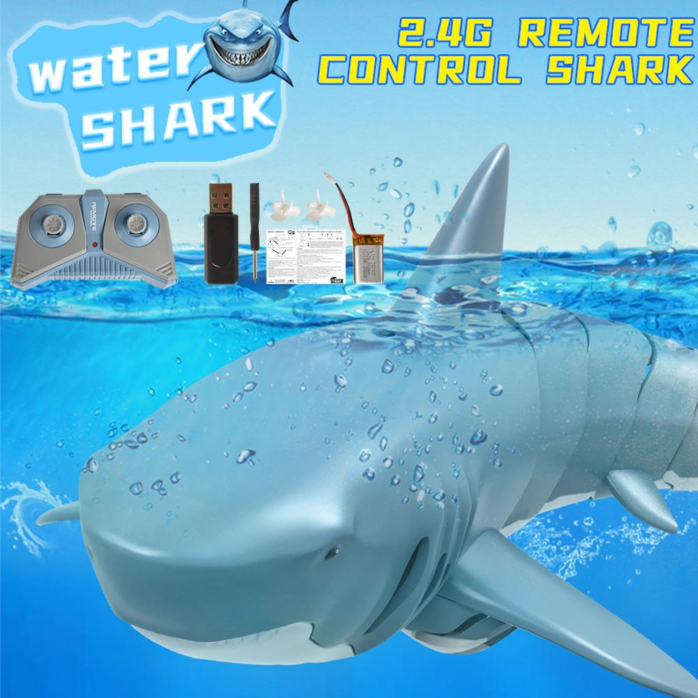 2.4G Remote Control Simulation of Shark Prank Toy, 360 Degree Rotate, Adjustable Speed, 20 Minute Endurance, for Christmas Kid Boy Gift, 2-1