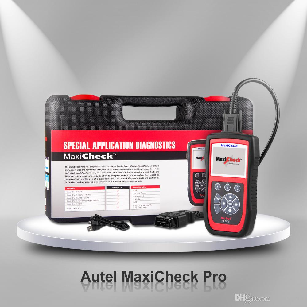 Autel MaxiCheck Pro OBD2 Scanner carro diagnóstico ferramenta EPB / ABS / SRS / SAS / Airbag / Reset Oil Service / BMS / DPF Code Reader Automotivo