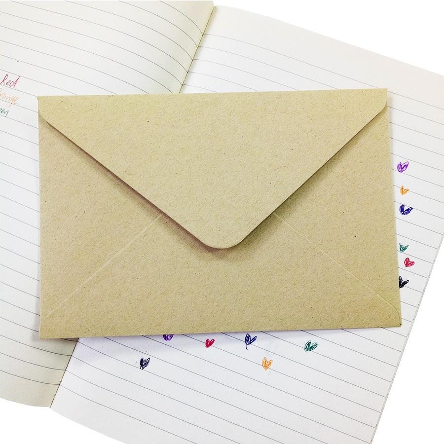 50pieces rugueux carte cadeau grain bricolage multifonction Kraft enveloppe de papier 16 * 11cm enveloppes de carte-cadeau pour la fête d'anniversaire de mariage
