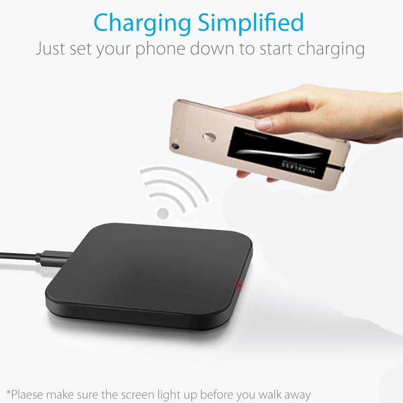Cargador inalámbrico Qi Pad para Xiaomi Redmi Note 7 Funda Accesorios móviles Banco de energía Receptor de carga inalámbrico para Redmi Note7Pro