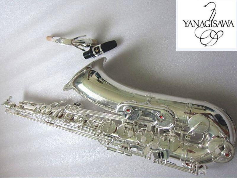 New Professional Giappone Yanagisawa Silver Silver Silver Strumenti musicali Strumenti musicali di alta qualità B Yanagisawa W-020 Bocchino e custodia Sax