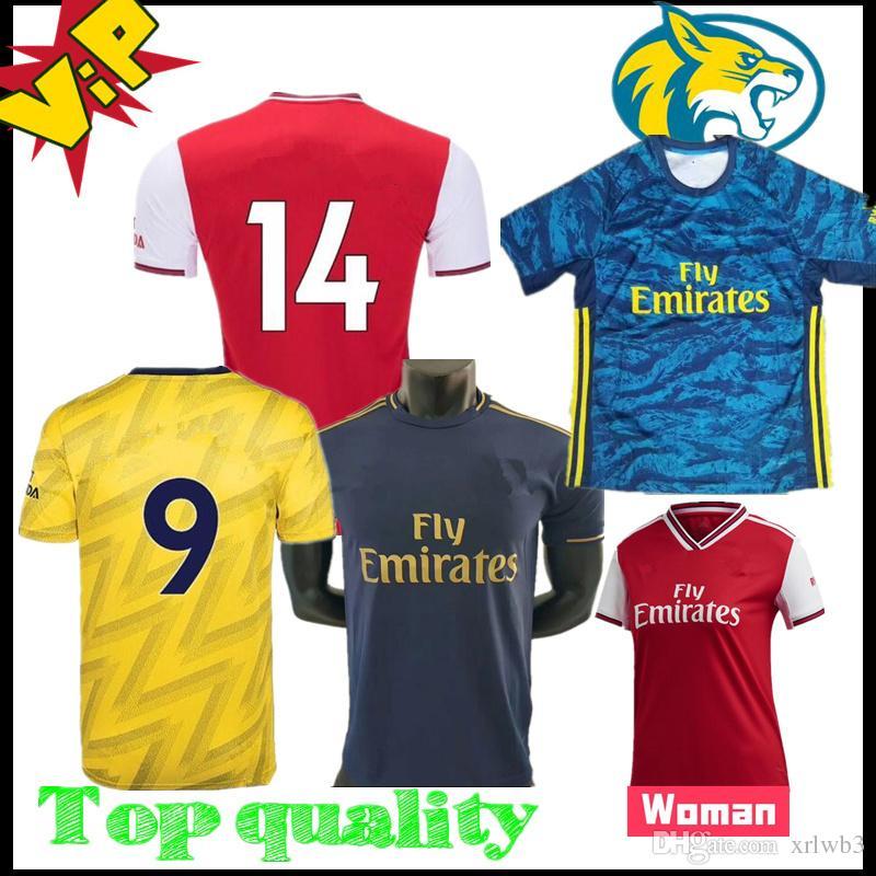 19 20 Arsen 축구 유니폼 2019 2020 Camiseta HENRY BERGKAMP Camiseta de futbol 골키퍼 maillot de foot 키즈 여성 팬 탑스