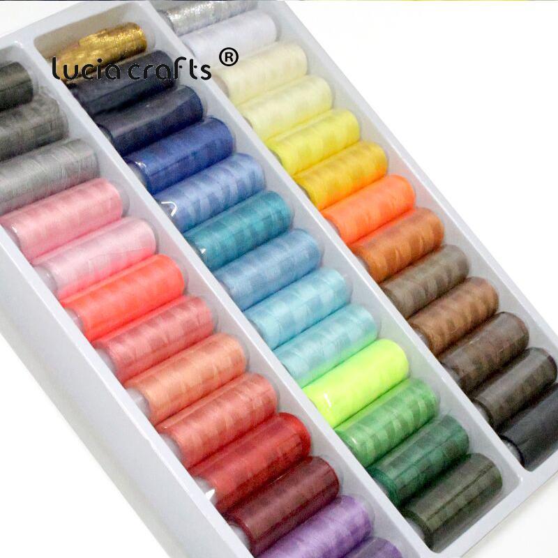 Lucia artesanato 39 cores carretéis de poliéster Linhas de costura Fios Mão Bordados Costura linha Carretéis Artesanato 39pcs / set W0310