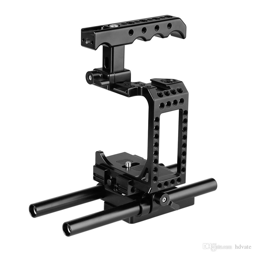CAMVATE DSLR Camera Half Cage Kit With Top Cheese Handle & QR Baseplate For Sony A7s A7RII A7s2 A7sII A7r3 A73 A9 Item Code: C2184