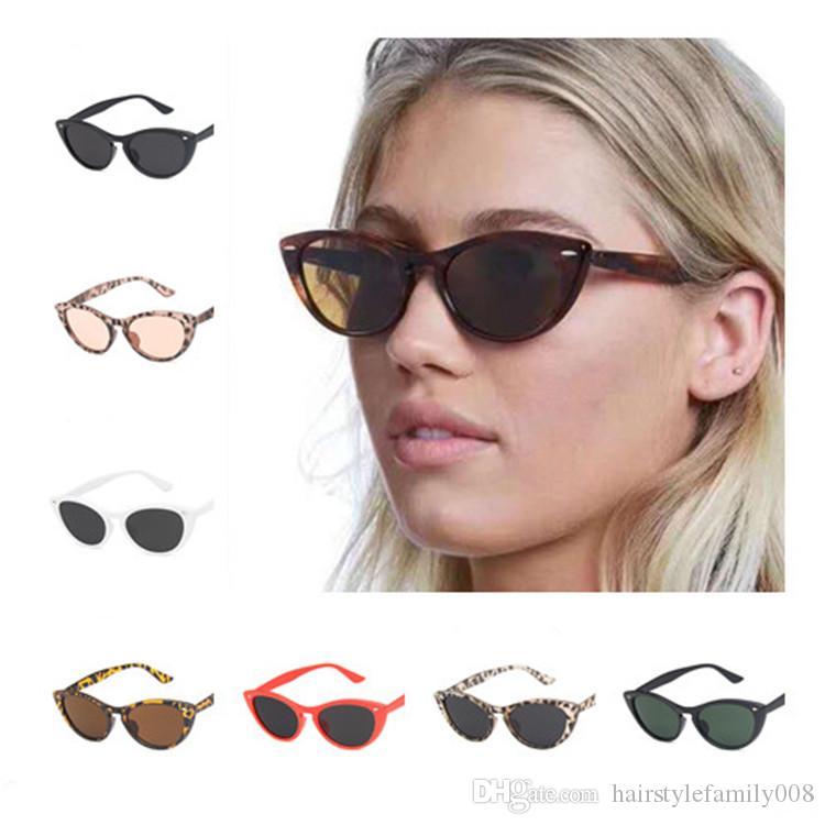 Moda Uomo Rice Donne Nail Occhiali da sole retrò gatto occhio di vetro di Sun Anti-UV Occhiali Occhiali Goggle adumbral Eyewear A ++