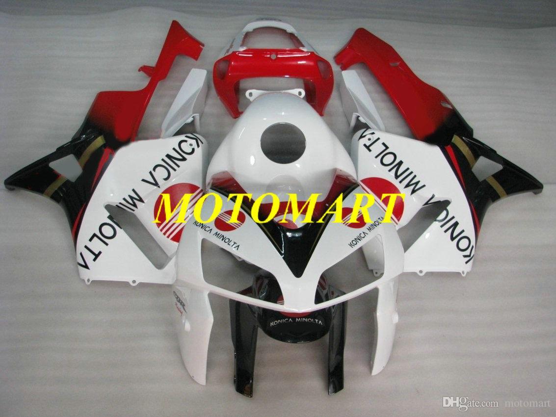 Motorcycle Fairing kit for HONDA CBR600RR F5 05 06 CBR600 RR CBR 600RR 2005 2006 ABS Red white black Fairings set+gifts HB19